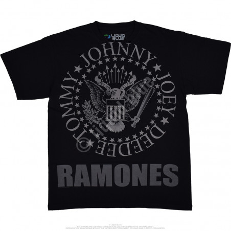 Liquid Blue Ramones Hey Ho Lets Go Black T-Shirt