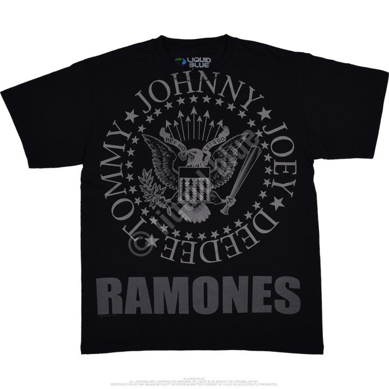 Liquid Blue Ramones Hey Ho Lets Go Black T-Shirt