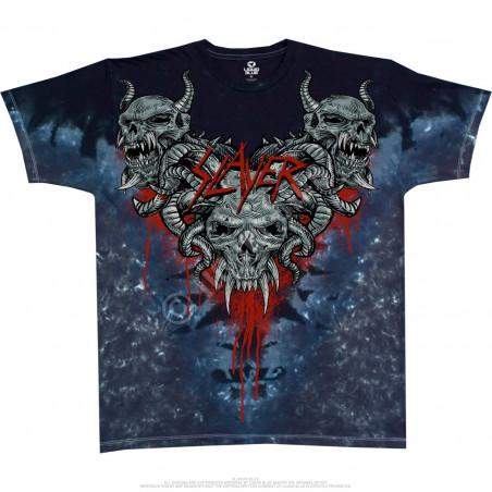 Liquid Blue Slayer Hell Awaits Tie-Dye T-Shirt