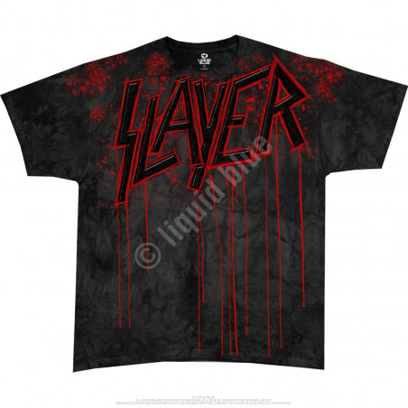 Liquid Blue Slayer Raining Blood Tie-Dye T-Shirt