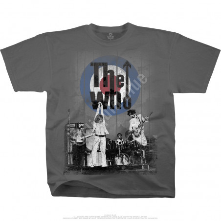 The Who Who's Better, Who's Best Grey Athletic T-Shirt Liquid Blue
