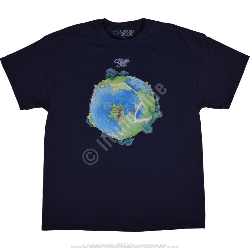 Liquid Blue Yes Fragile Navy T-Shirt