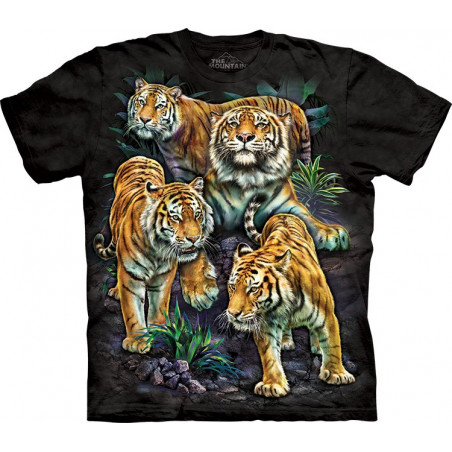 Bengal Tiger Collage T-Shirt The Mountain
