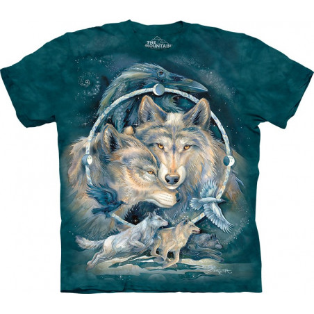 Wolves In Spirit I am Free T-Shirt The Mountain
