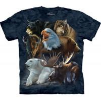 Wild Alaskan Collage T-Shirt The Mountain