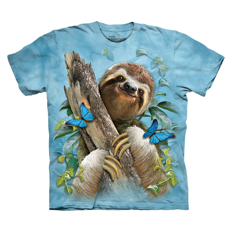 Sloth & Butterflies T-Shirt The Mountain