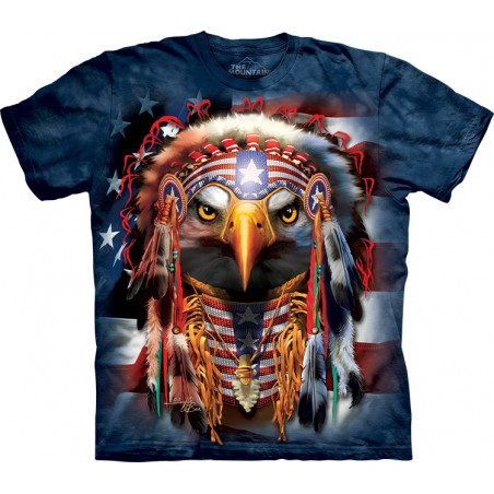 Native Patriot Eagle T-Shirt The Mountain