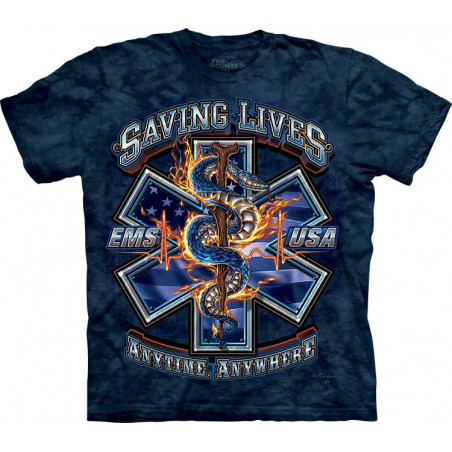 Saving Lives EMS T-Shirt The Mountain