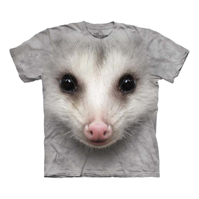 Big Face Opossum T Shirt The Mountain Clothingmonster Com