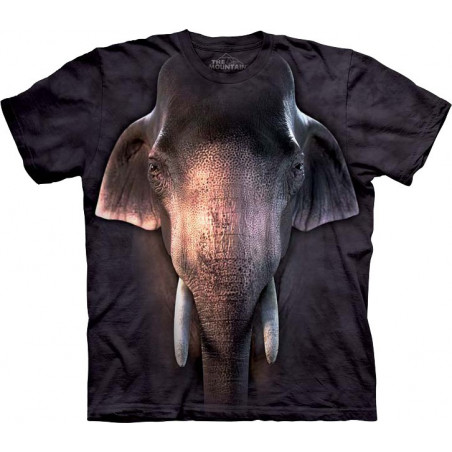 Big Face Asian Elephant T-Shirt The Mountain