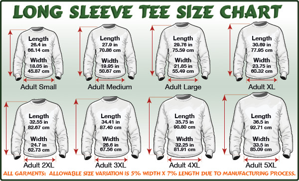 Zoo York Clothing Size Chart